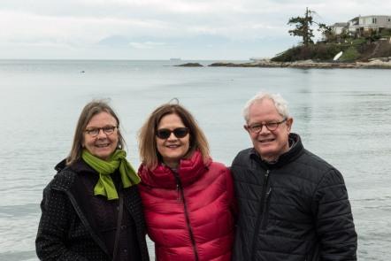 Mary Lynn, Rob & Glen on Vancouver Island