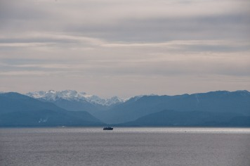South, toward the Olympic Mountains