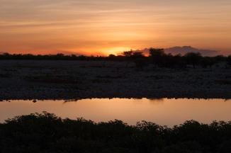 Sunset, Okaukuejo