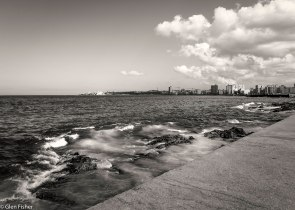 Malecon, looking across to the fort