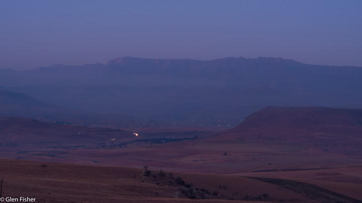 Drakensberg, dawn anddusk