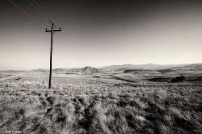 Telephone poles, Drakensberg