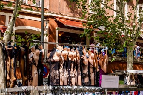 Lingerie rack, Madrid