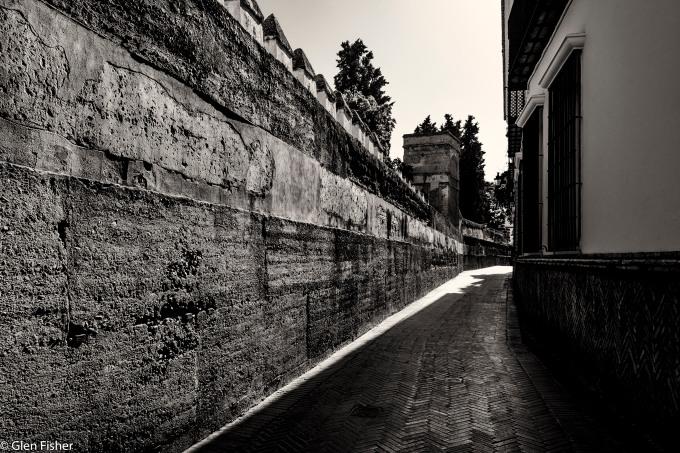 Outer wall, Gardens of the Alcazar