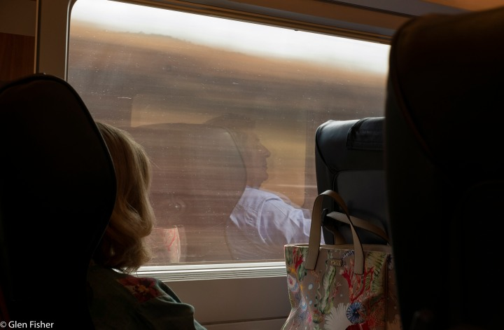On the high-speed train from Madrid toSevilla….
