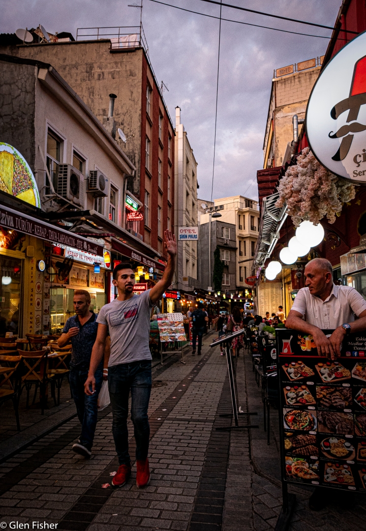 Young man on the town,Istanbul