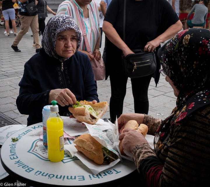 Fish sandwiches by the Galata Bridge