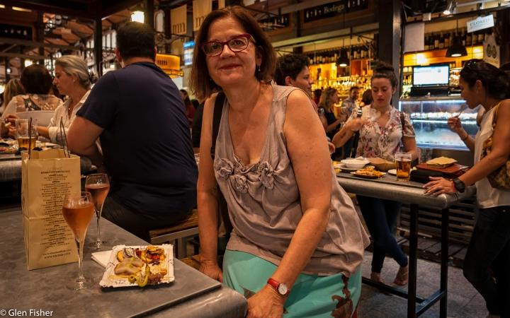 Cava and tapas at the Mercado de SanMiguel